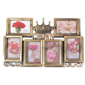 Plastic photo frame for 6 photos 10x15 cm