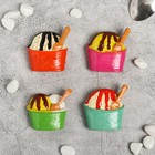 "Magnet Polyresin ""ice cream cone"" MIX 5x5,5 cm"