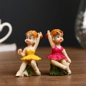 Сувенир полистоун 'Малышка балерина' МИКС 6,5х2,7х2,7 см Ош
