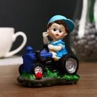 "Souvenir Polyresin ""Baby tractor"" MIX 9х7,5x6 cm"