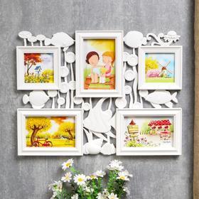 Photo frame for 5 photos 10x10, 10x15 cm