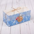 Коробка для капкейка с PVC-крышкой «Зимние радости», 8 × 16 × 7,5 см