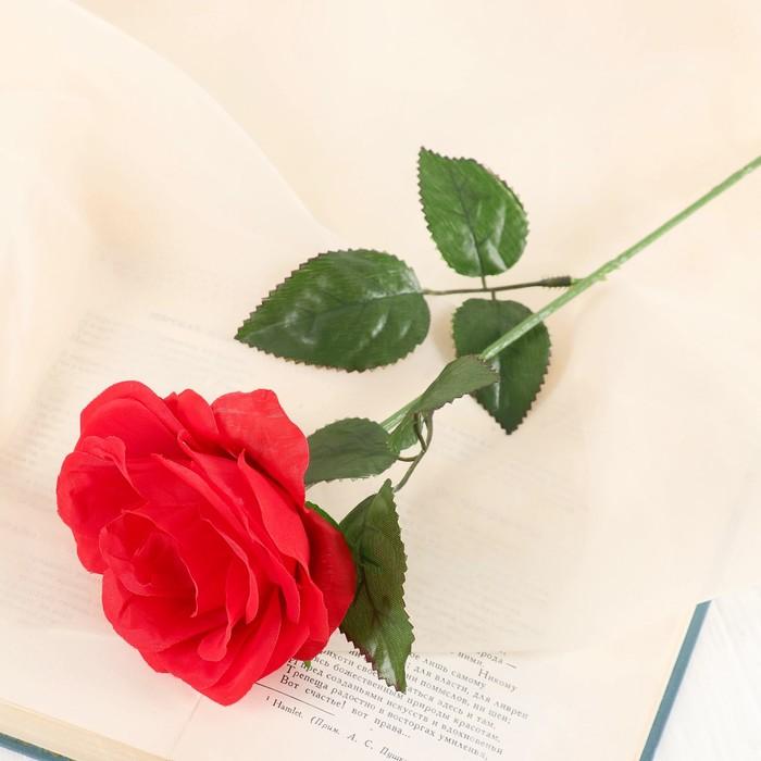 """Цветы искусственные """"Роза Глория"""" 9*60 см, красная - фото 4455919"""