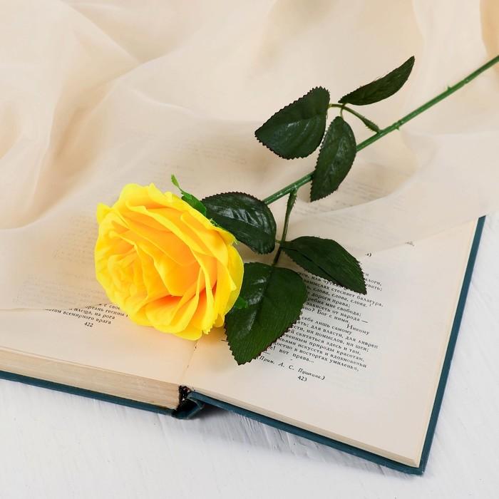 """Цветы искусственные """"Роза Глория"""" 9*60 см, жёлтая - фото 4455921"""