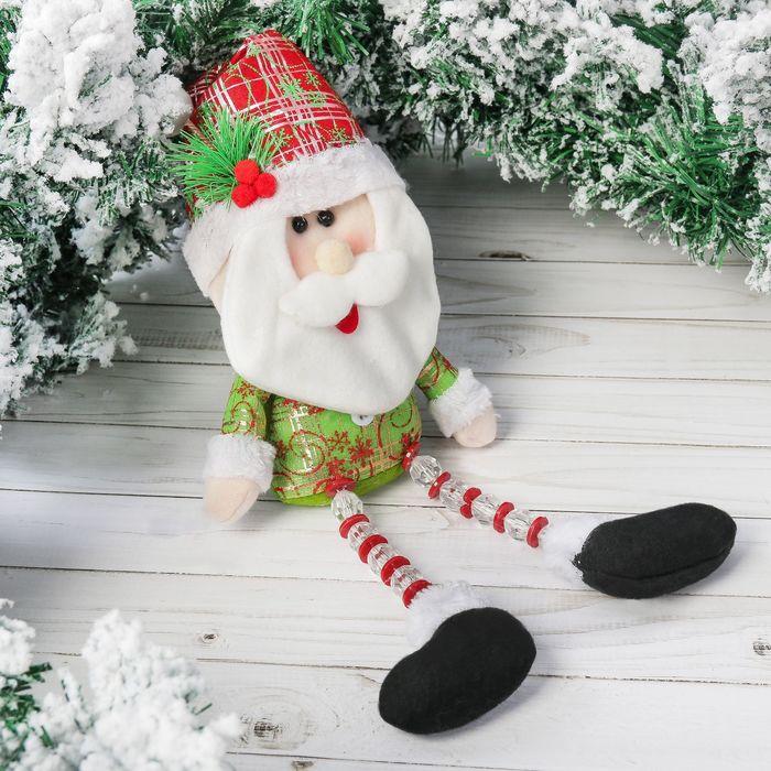 """Мягкая игрушка """"Дед Мороз"""" колпак с ягодками 11*40 см"""