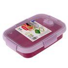 Контейнер пищевой 0,7 л To Go прямоугольный, цвет фиолетовый