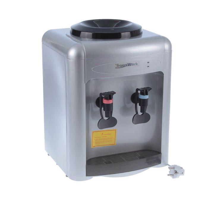 Кулер для воды AquaWork AW 0.7TD, с охлаждением, 700 Вт, серебристый