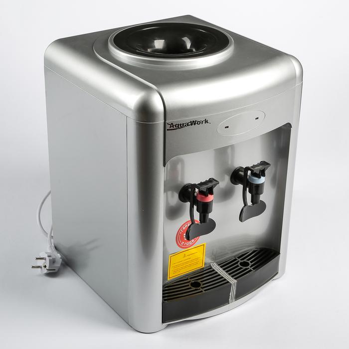 Кулер для воды AquaWork AW 36TKN, только нагрев, 700 Вт, серебристый