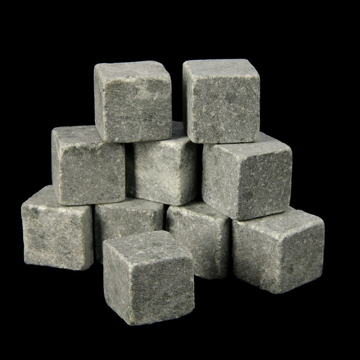 Камни для виски, 10 шт., крафт пакет, размер камня 2×2×2 см