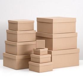 "Набор коробок 11в1 ""Крафт однотонный"" 23 х 23 х 12 - 5,5 х 5,5 х 2,5 см"