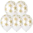"""Шар латексный 14"""" «Золотые звёзды», кристалл, шелкография, набор 25 шт., цвет перламутр - фото 308469032"""