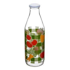 Бутылка с крышкой «Овощи», объём 1 л