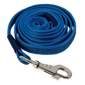 Поводок с латексной нитью двухсторонний, 2 м х 2 см, нейлон, синий