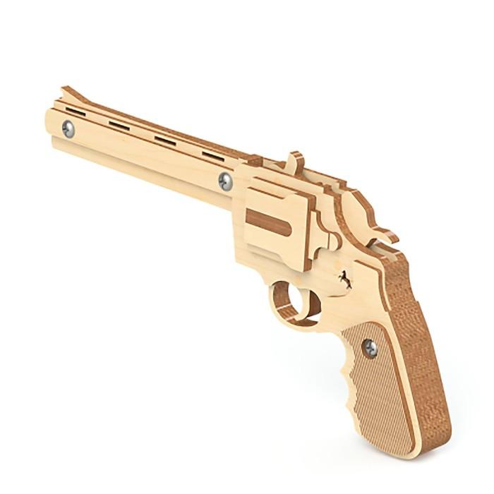 """Пистолет Резинкострел """"Револьвер"""", стреляет резинками (15 шт.)"""