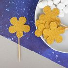 "Skewers ""Flower"", gold (set of 12pcs)"