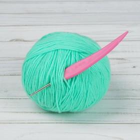 Крючок для вязания, d=2,5мм, 14см, цвет розовый Ош