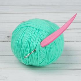 Крючок для вязания, d = 3 мм, 14 см, цвет розовый Ош