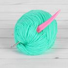 Crochet hook, d = 3,5 mm, 14 cm, colour pink