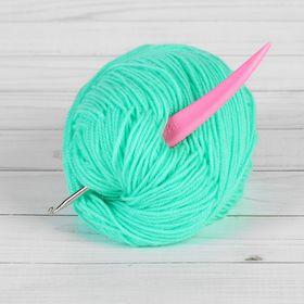 Крючок для вязания, d = 3,5 мм, 14 см, цвет розовый Ош