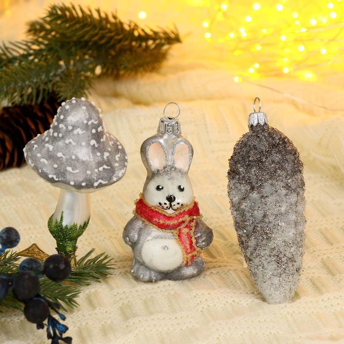 """Набор новогодних игрушек """"Лесной"""", микс - фото 905029"""