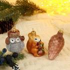 """Набор новогодних игрушек """"Лесной"""", микс - фото 905031"""