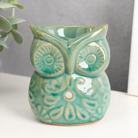 """Oil burner ceramic """"Ornate owl"""" 9,5x7,5x6 cm"""