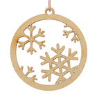 "Tag ""Christmas ball"", beige, D=5cm"