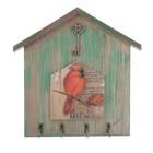 """Крючки декоративные дерево """"Птица - Красный кардинал"""" 24,3х24,5х2,5 см"""