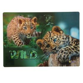 Накладка на стол дизайнерская «Маленькие леопарды», 337 х 242 мм, КН 4-1 Ош