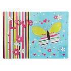 Накладка на стол дизайнерская «Яркая бабочка» А4+, 33,7 х 24,2 см, для девочки