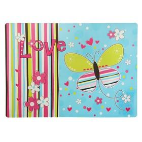Накладка на стол дизайнерская «Яркая бабочка», для девочки, 337 х 242 мм, КН 4-1 Ош