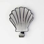 Крючок декоративный «Ракушка» серый