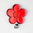 Крючок декоративный «Цветок» красный