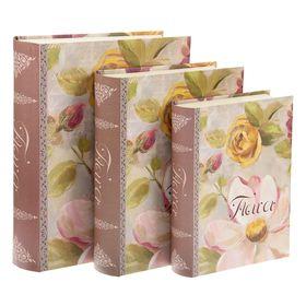 Набор коробок 3в1 'Нежные цветы', 29 х 23 х 7 - 26 х 22 х 5 см Ош