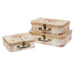 Набор коробок 3в1 'Париж', 37 х 26 х 11 - 26 х 18 х 9 см Ош