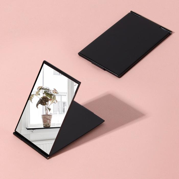 Зеркало складное, прямоугольное, одностороннее, без увеличения, цвет чёрный