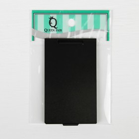 The mirror is a foldable, single-sided, no magnification, color black