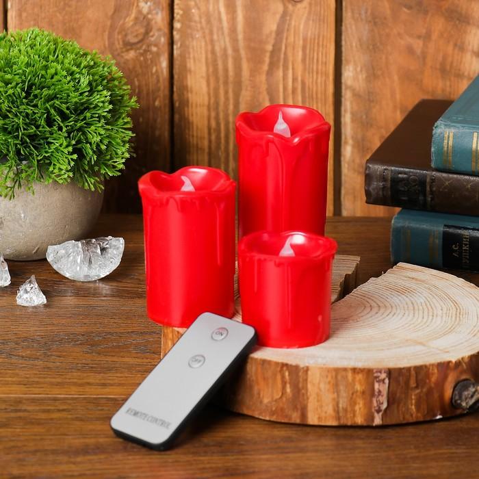 Свеча светодиодная «Перелив», с пультом