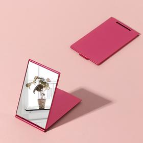 The mirror is a foldable, single-sided, no magnification, red