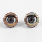 Глаза моргающие с ресничками, полупрозрачные, набор 2 шт, цвет коричн, размер 1 шт 1,5 см
