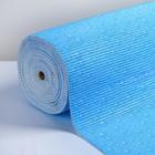 """Коврик для ванной комнаты 0,65х15 м """"Капли"""" цвет голубой"""