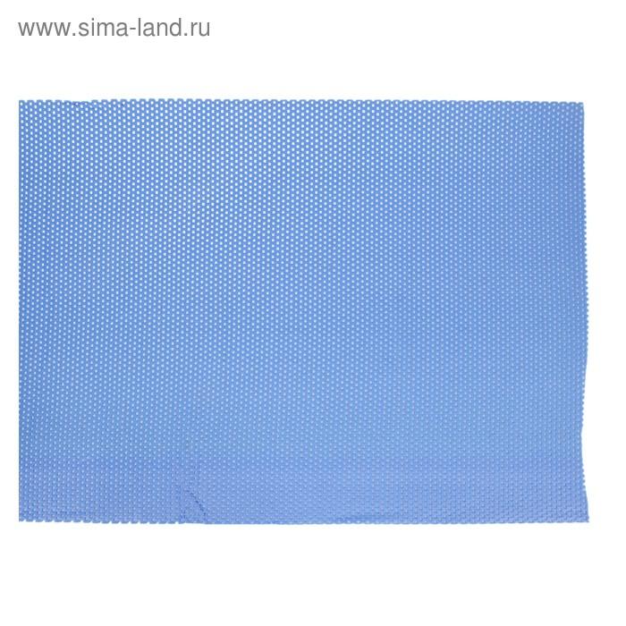 Коврик напольный ПВХ ширина 65 см, рулон 15 м, цвет голубой