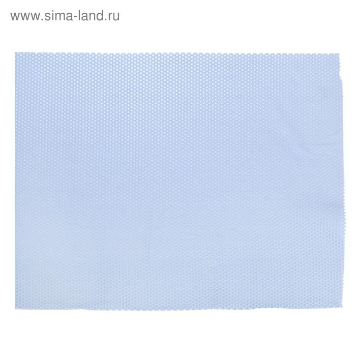 Коврик напольный ПВХ ширина 65 см, рулон 15 м, цвет светло-голубой