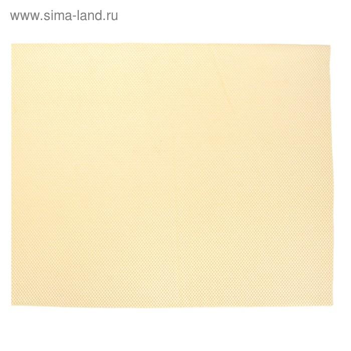 Коврик напольный ПВХ ширина 65 см, рулон 15 м, Velvet foam, цвет бежевый