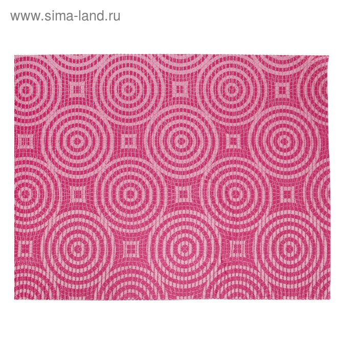 Коврик напольный ПВХ ширина 65 см, рулон 15 м V-line illusion, цвет розовый