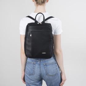 Сумка-рюкзак жен 1397, 22*10*31, отдел на молнии, 2 н/кармана, черный Ош