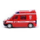 Машина «Пожарная служба», световые и звуковые эффекты, работает от батареек - фото 105649285