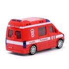 Машина «Пожарная служба», световые и звуковые эффекты, работает от батареек - фото 105649286