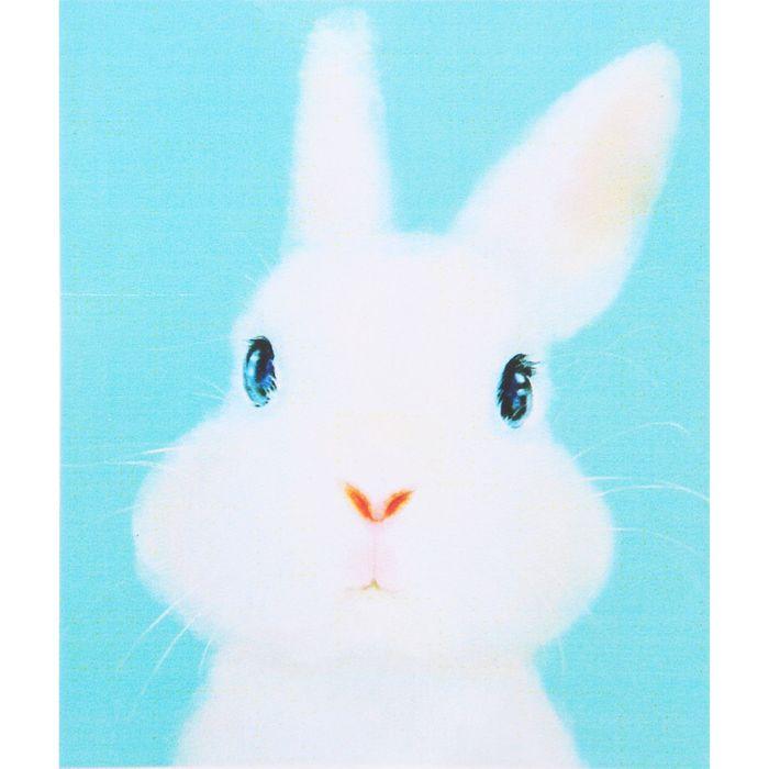 """Алмазная вышивка с частичным заполнением """"Кролик милашка"""" с подставкой"""