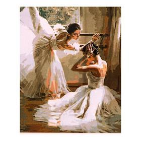 Роспись по холсту «Балерины» по номерам с красками по 3 мл+ кисти+инстр-я+крепёж, 30×40 см